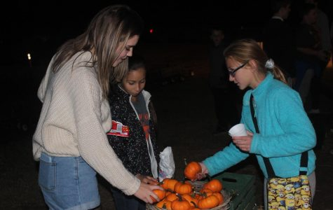 BBBS members party at the pumpkin patch