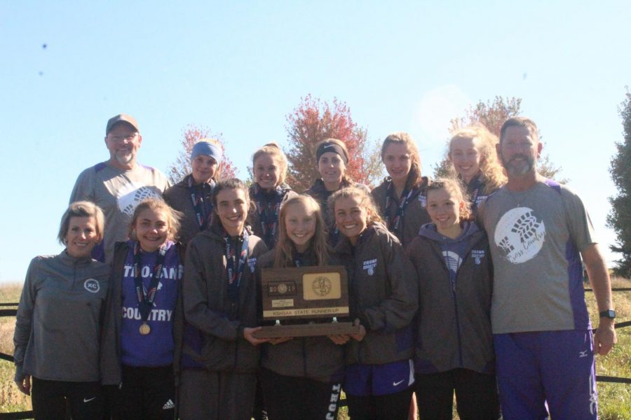 The girls team places 2nd at the state meet.