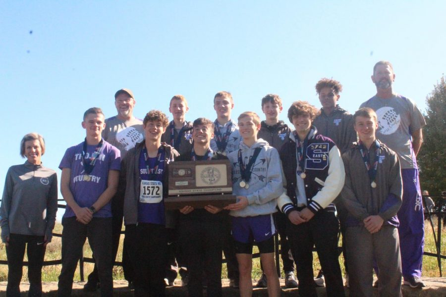 The boys team takes home 1st place for the second year in a row.