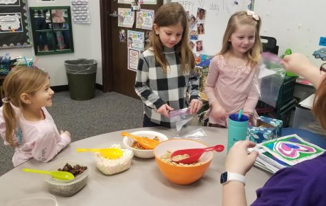 First graders get excited for Valentine's Day