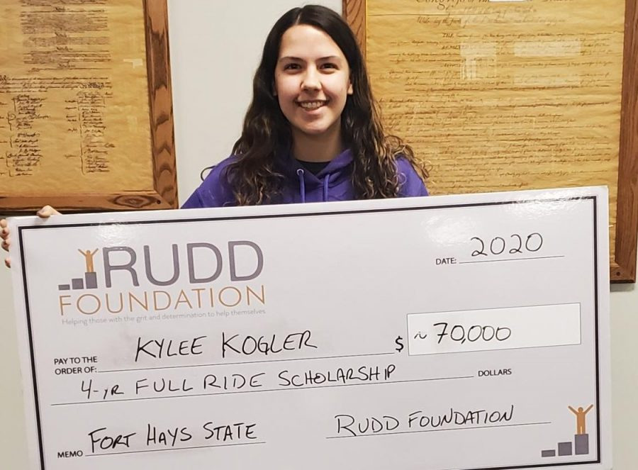 Kylee Kogler receives Rudd scholarship