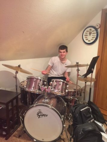 "Day 5: ""Hobby Day"" - Keenan Johnson showing off his mad drum skills."