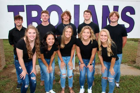 Back Row: Luke Gleason, Tyler Breeding, Jaxson Gebhardt, Eli Harris, and Bryant Banks Front Row: Mackenzie Boley, Luisa Ortega, Sydnee Poague, Makenna Bartholomew, and DorothyAnn Sparacino